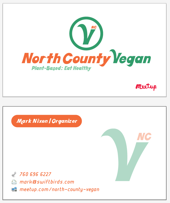 North County Vegan Logo & Card